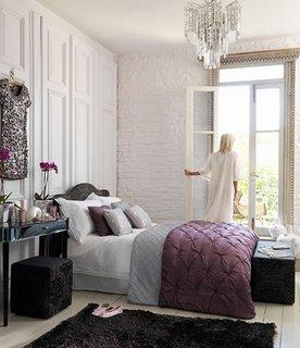 Mor Yatak Odas� Dekorasyonlar�
