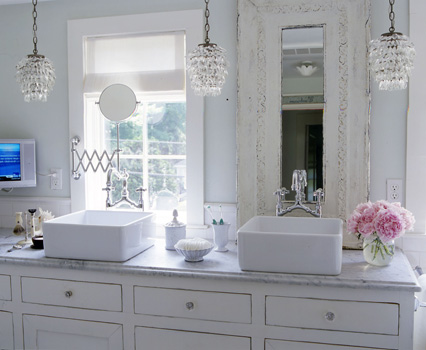 Shabby Chic Bathroom Glass Crystal