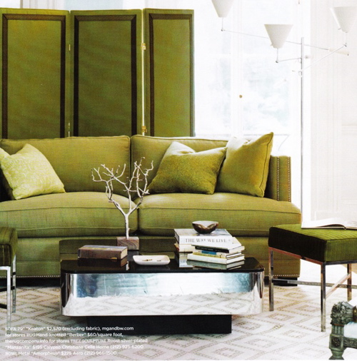 Incroyable I Love Green, It Would Be My Second Choice For A Sofa Colour, Just Like In  This Loft I Decorated For One Of My Clients. Itu0027s Also A Great Colour  Paired With ...