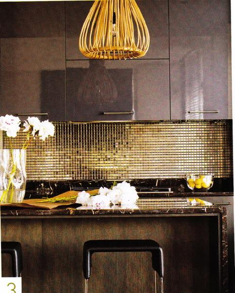 Gold Kitchen Design