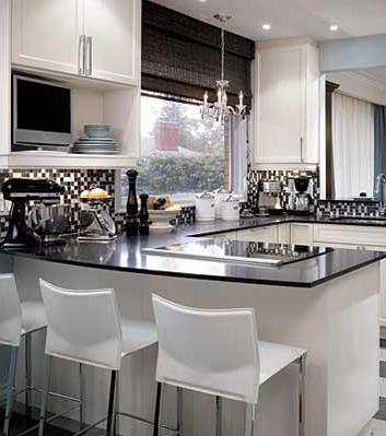 Photos Of Black And White Kitchen Backsplashes Pictures