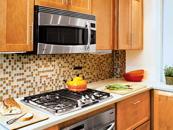 Orange Kitchen Tiles