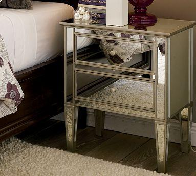 Park Mirrored Bedside Table | Pottery Barn - mirrored