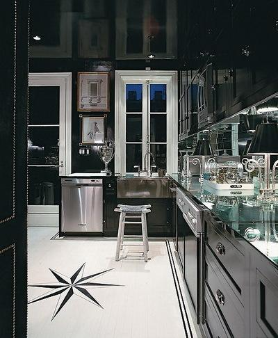 minimalist kitchen tiles contemporary black