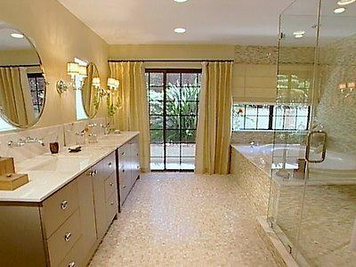modern romantic bathroom