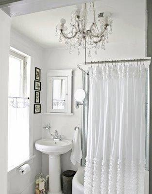 URBAN JANE: Ruffled Shower Curtains