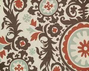 Suzie: Fabrics - Denton Drapery Print Nile/Denton - suzani, fabric