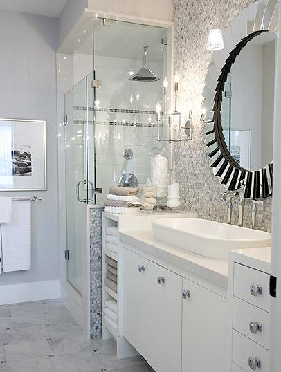 I Think More People Are Able To Embrace Gray In The Bathroom Than Kitchen And White Bathrooms Look Incredibly Clean Crisp