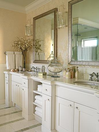 Marble Bathroom Design on Sarah Richardson Design   Bathrooms   Antique  Silver  Beveled