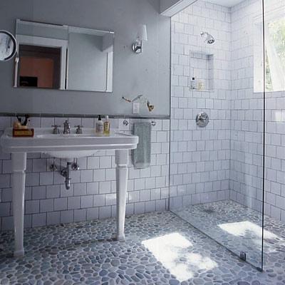 Tiles gray walls paint color bathroom white porcelain sink extra