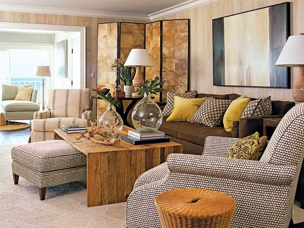 Image result for livingroom scheme brown sofa blue walls mustard ...