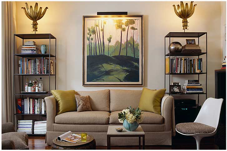 Tulip chair in living room