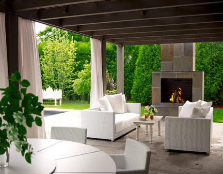 Patio Decorating Ideas on House Beautiful   Decks Patios   Outdoor  Covered  Patio  Deck  Slate