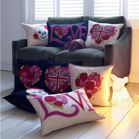 The Vintage Rose Cushion Collection, Cushions & Throws | Graham and Green