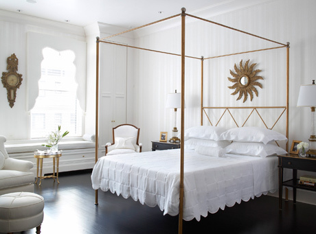 Bed Crowns: Wooden Bed Crowns, Antiqued Gold Bed Crowns, Cherub