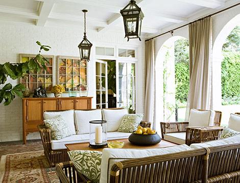 Suzie:  Joan Behnke Karyn R Millet Photography.  Beautiful Loggia. Outdoor wicker sofas and ...