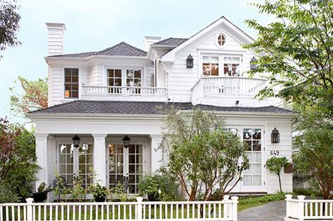 Suzie: Douglas Leach Architecture  Traditional Home  Gorgeous home exterior, gray shingles ...