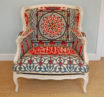 Bergere Chair On Miscellaneous Suzani Fabric