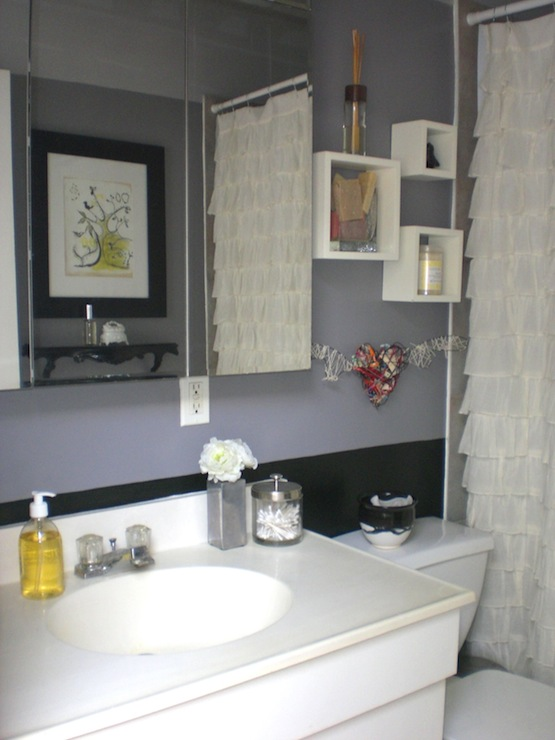 Wonderful Bathrooms Ruffle Yellow Grey Gray Black White Bathroom Showing My Part 28