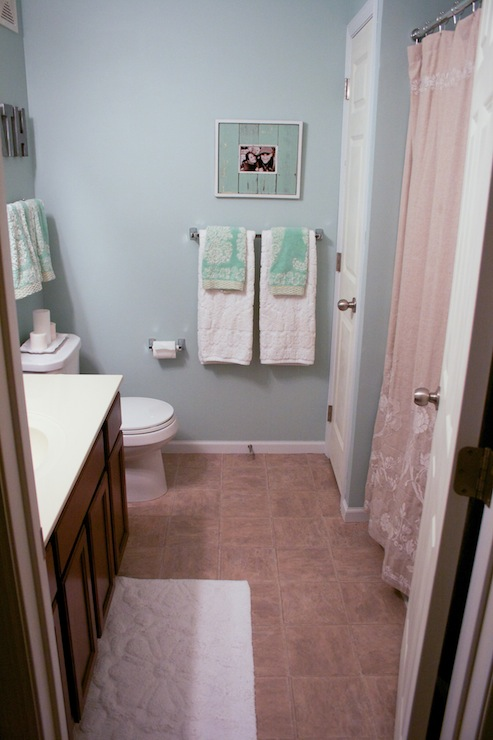 Beautiful Paint  Blue Grey Master Bath With Pics