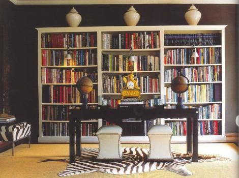dens/libraries/offices - zebra black  Damiano Biellas black and white library.