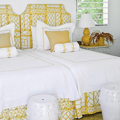 Suzie:  J. Savage Gibson Photography.  yellow beachy cottage guest bedroom design with yellow ...