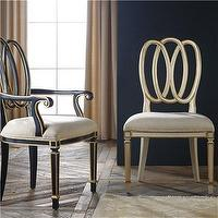 Seating - Milan Dining Chair I Layla Grayce - ellipse back dining chair, vintage style dining chair, gold dining chair, gold and black dining chair,