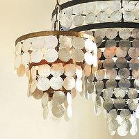 Lighting - Vernay 4-Light Chandelier | Ballard Designs - capiz chandlelier, capiz shell chandelier, gray capiz shell chandelier,