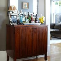 Urrutia Design - dens/libraries/offices - bar, bar cart, mid century cabinet, mid century bar cabinet, bar cabinet,  URRUTIA DESIGN www.UrrutiaDesign.com