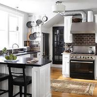 Urrutia Design - kitchens - white kitchen, brown subway tile, brown subway tile kitchen, brown subway tile backsplash, white cabinets with brown subway tile,