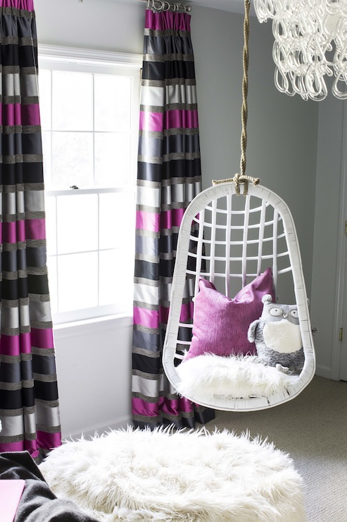 Striped Curtains - Contemporary - girl's room - B Metro